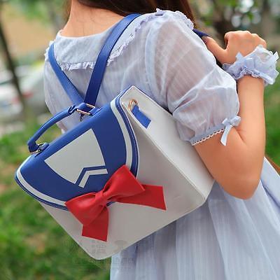 2 Ways Sailor Moon Preppy Style JK  Message Shoulder Bag Backpack Pu 3 Color New