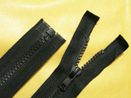 for Coat Various Lengths Chunky Teeth Open End Anorak Black Zip Jacket