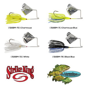 Strike-King-Buzzbait-Topwater-Tri-Wing-Buzz-King-5-16oz-Pick-Any-Color-516BM
