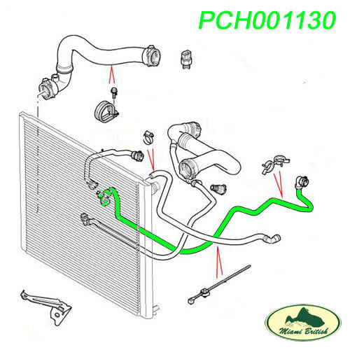 LAND ROVER OVERFLOW RESERVOIR EXPANSION TANK HOSE RANGE 03-05 M62 PCH001130 OEM