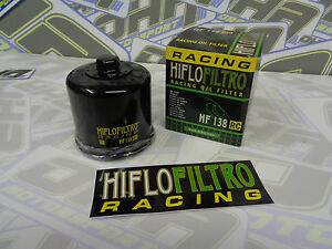 Hiflo Motorcycle Racing Oil Filter HF138RC