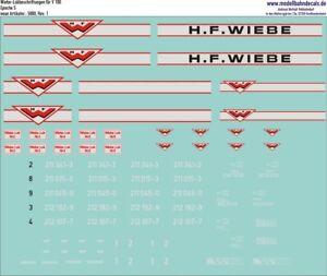 SéRieux H0-complet étiquette Pour Wiebe V100 (2 Variantes) - 087-5880 Top Neuf-chriftung Für Wiebe V100 (2 Varianten) - 087-5880 Top Neu Fr-fr Afficher Le Titre D'origine