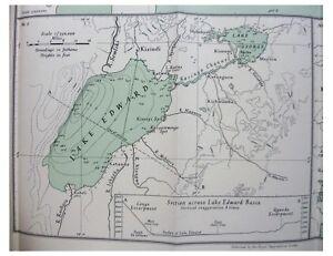 1932-Worthington-INLAND-WATERS-OF-AFRICA-Kenya-UGANDA-Lakes-COLOUR-MAP-4