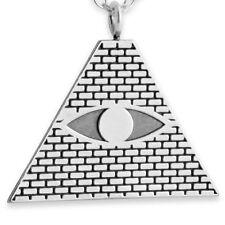 Illuminati Eye of Providence Pyramid Charm Pendant #925 Sterling #Azaggi P0364S