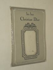 Bas Ancien CHRISTIAN DIOR Collant DS Floride T O Mastic Stockings An 70 vintage