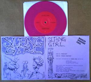 Slang Girl Hardline B W Street Fracture Marbled Burgundy Vinyl
