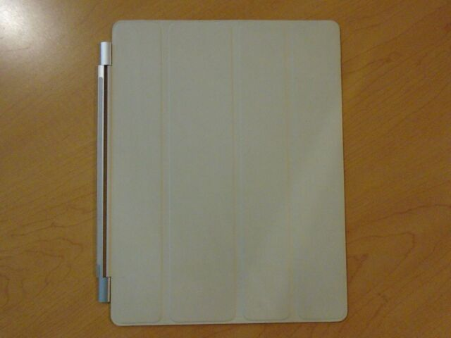 IPAD COVER MAGNETIC LEATHER FLIP CASE LIGHT GRAY MD305LL/A **NEW OTHER**