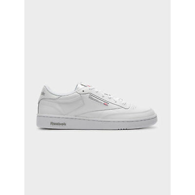 New Reebok Unisex Club C 85 Sneakers In White Grey Leather