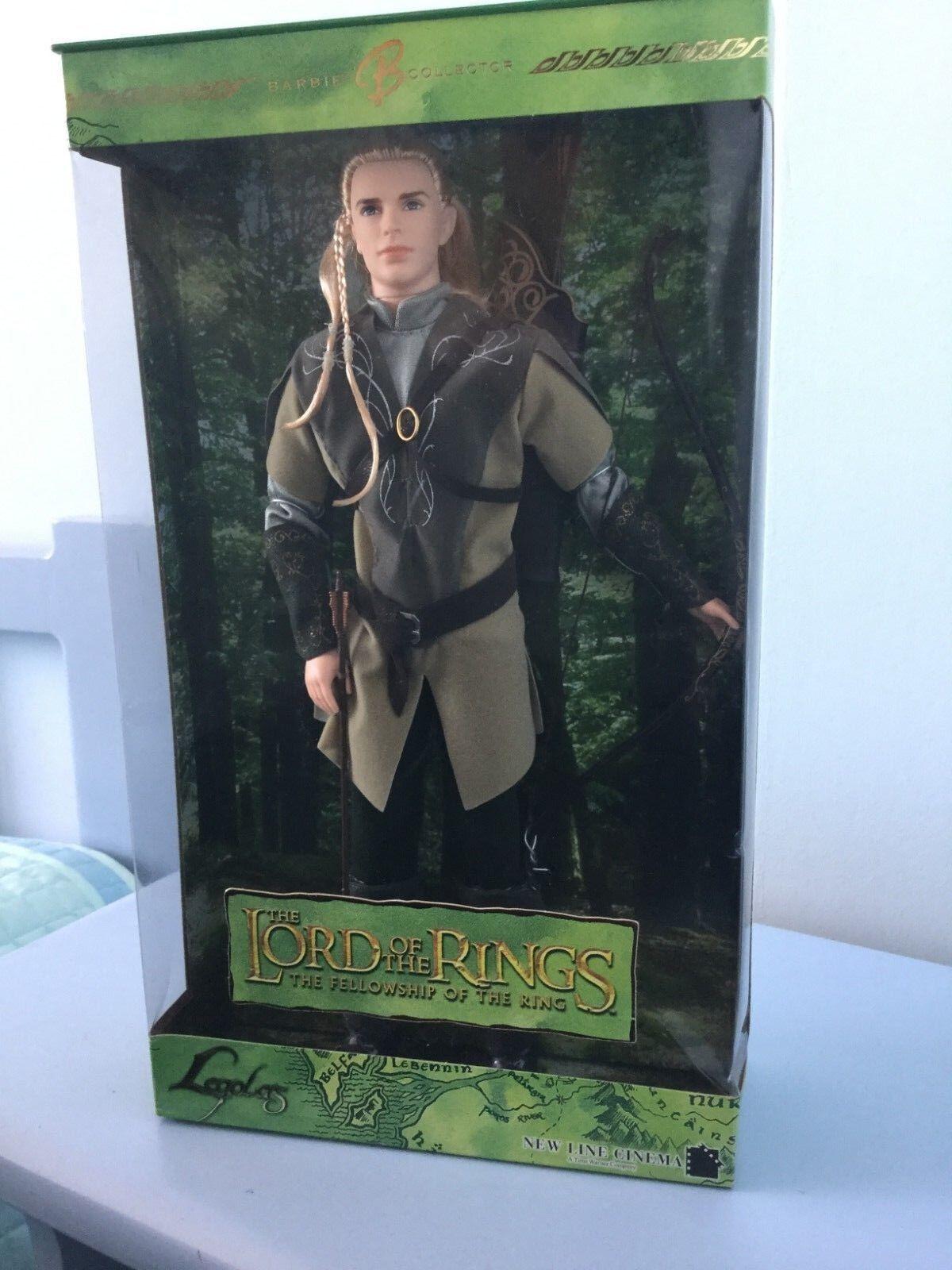 Nuevo Y En Caja Ken muñeca como Legolas en el Señor De Los Anillos  la comunidad del anillos