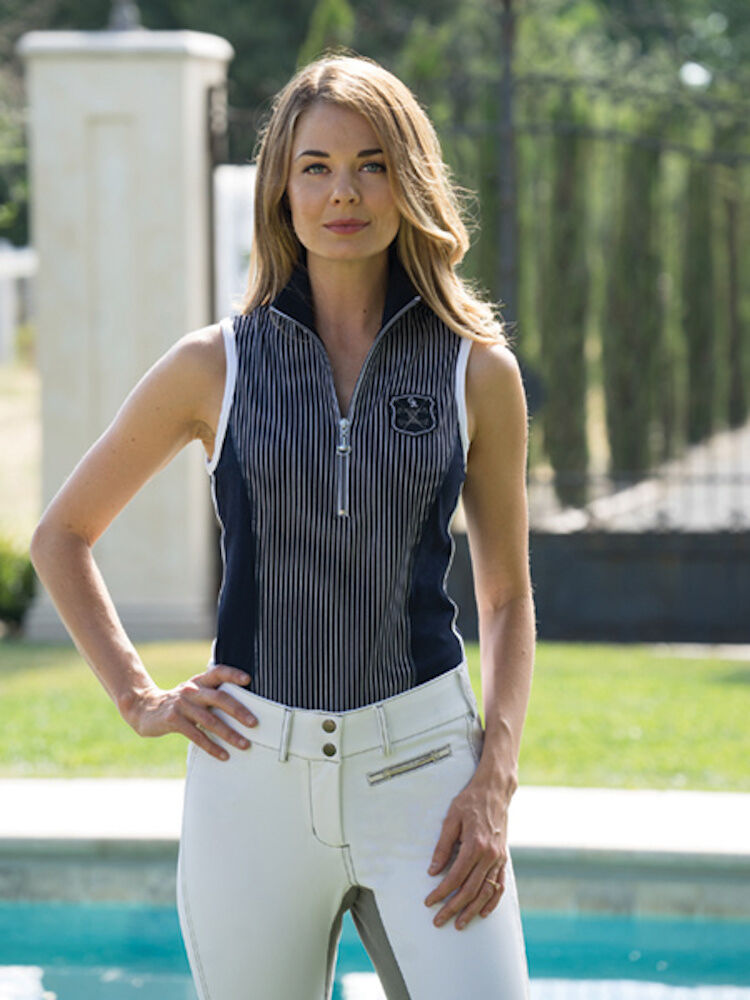 Good  Rider Ideal Show Tank-Navy Stripe-M  great offers
