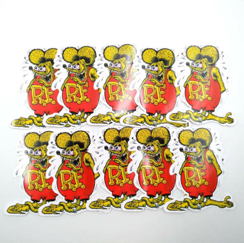 Rat Fink Bicycle 11 Colors Hot Rod  Vinyl Decal Ed Roth Big Daddy Car Stickers