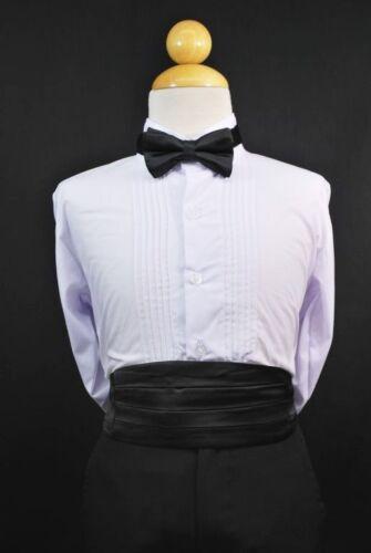 Bow tie Sets Formal Boys Teens Tuxedos Suits Sz S-28 23 Satin color Cummerbund