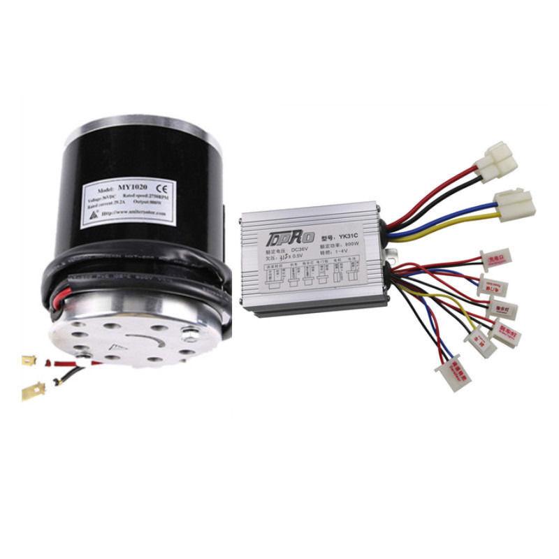 800W 36V Electric Start Brush Motor + Controller Box For Elestric ATV E-Scooter