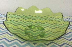 Image Is Loading Tupperware Sheerly Acrylic Salad Fruit Bowl Lime Green