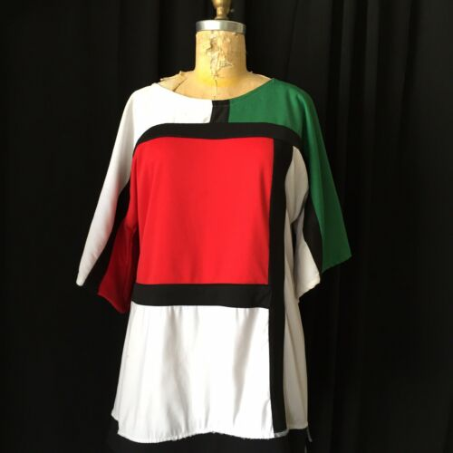 60s/70s Vintage Mondrian Style Dress