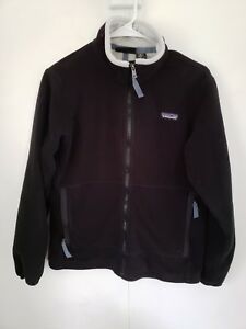 20c35e80fd63 Women s Patagonia Synchilla Medium Black w Light Gray Fleece Jacket ...
