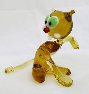 "Hand Made Blown Glass Fire Glass,Lamp work beautiful Bull Figurine 3.5x3x1.5/"""