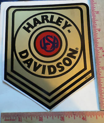 Vintage Harley sticker collectible old motorcycle decal HD emblem memorabilia