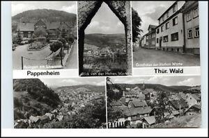 Stempel-PAPPENHEIM-a-DDR-Mehrbild-AK-ua-Gasthaus-Zur-Hohen-Warte-u-Ehrenmal