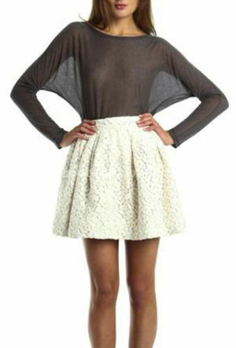 NWT ELIZABETH AND JAMES IVORY LACE PATRICIA SKIRT S