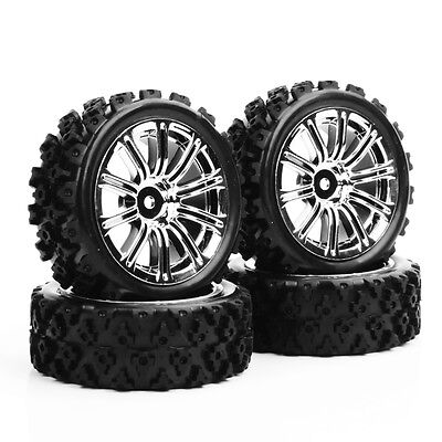 4PCS 1:10 Rally Tyre Tires&Wheel Rim 12mm Hex For HSP HPI RC Racing Off Road Car | eBay