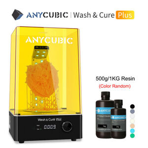 US ANYCUBIC Wash & Cure Plus for LCD 3D Printer Photon 500g / 1KG 405nm UV Resin