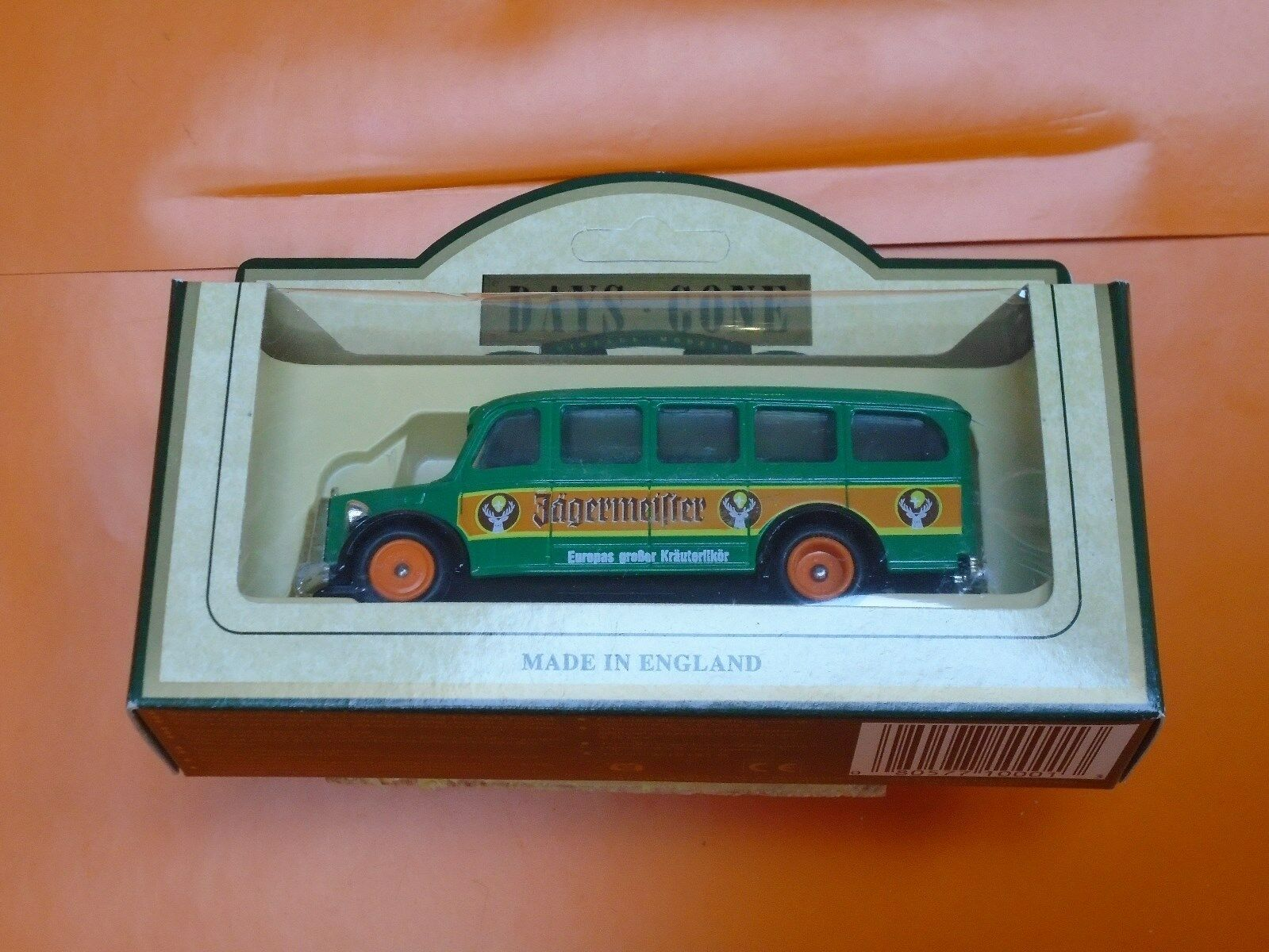 Lledo No 76000 - Diecast Model Of A 1951 Mercedes 'O' Type Bus - JAEGERMEISTER