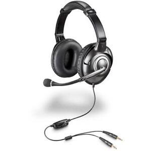 Plantronics-Audio-365-Binaural-Gaming-Computer-Headband-closed-ear-Headset-BLK