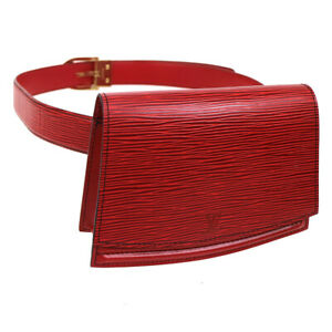 8b21afa3cf6b AUTH LOUIS VUITTON TILSITT WAIST POUCH BUM BAG RED EPI LEATHER ...
