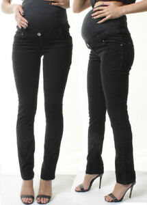 OVER-BUMP-STRAIGHT-TROUSERS-MATERNITY-STRETCHY-CORDUROY-PREGNANCY-LONG-PANTS
