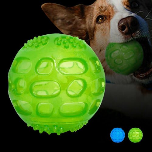 Aggressive Chew Toys for Large Dogs Indestructible Rubber Floating Squeaky Balls