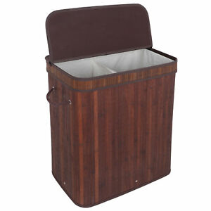 Laundry Hamper Basket Clothes Storage Bag Sorter Bin Organizer Polypropylene