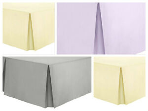Bed-Skirts-100-Cotton-Bed-Spreads-Dust-Ruffle-Drop-Cover-Fitted-16-034-Drop-Length