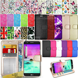 buy online 9fc15 cbcb8 Details about For LG K4 2017 -Wallet Leather Case Flip Stand Book Cover +  Screen Protector