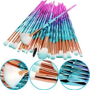 20pcs unicorn makeup brushes set soft foundation eyeshadow