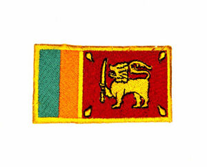 Sri Lanka National Country Flag Iron Sew on Embroidered Patch