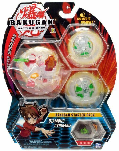 Spin Master 20109061 Bakugan Battle Planet Brawlers Diamond Figure Pack of 3 for sale online