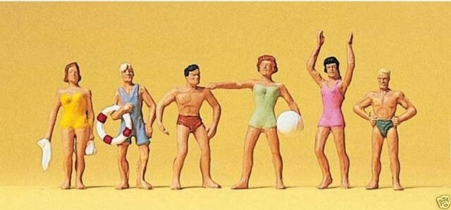 Preiser HO 1:87  10070 Recreation & Sports -- Standing Swimm