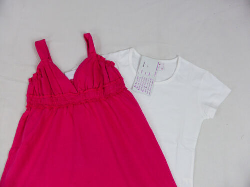 Green Girls Dress and Tee Set Steel Blue Sz 8,10,12,14,16 in Navy,Pink
