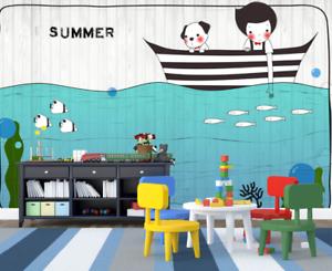 3D Summer Boating 75 Wall Paper Murals Wall Print Wall Wallpaper Mural AU Lemon