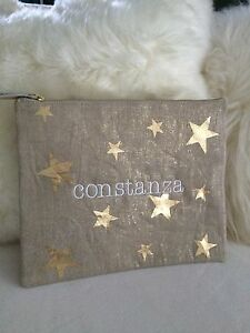 Pottery Barn Kids Pouch Travel Bag Embroidered Quot Constanza