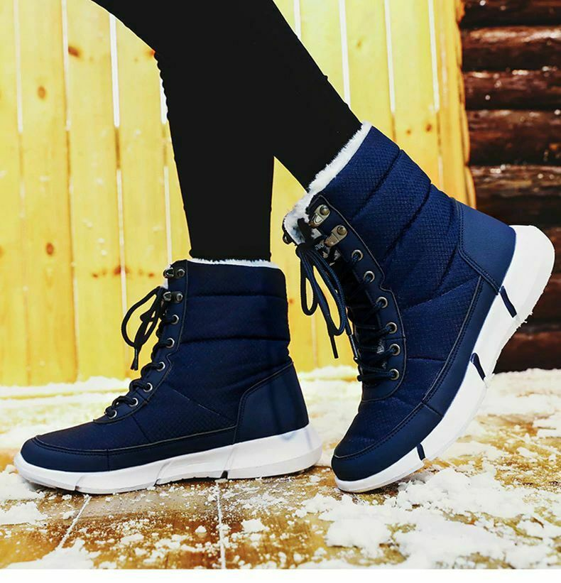 Unisex Boots 2021 Winter Shoes Waterproof Snow Boots With Warm Fur Sneakers Men