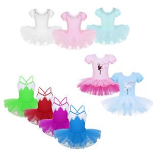 Kids-Girls-Ballet-Dance-Dress-Ballerina-Tutu-Skirts-Gymnastics-Dancewear-Costume