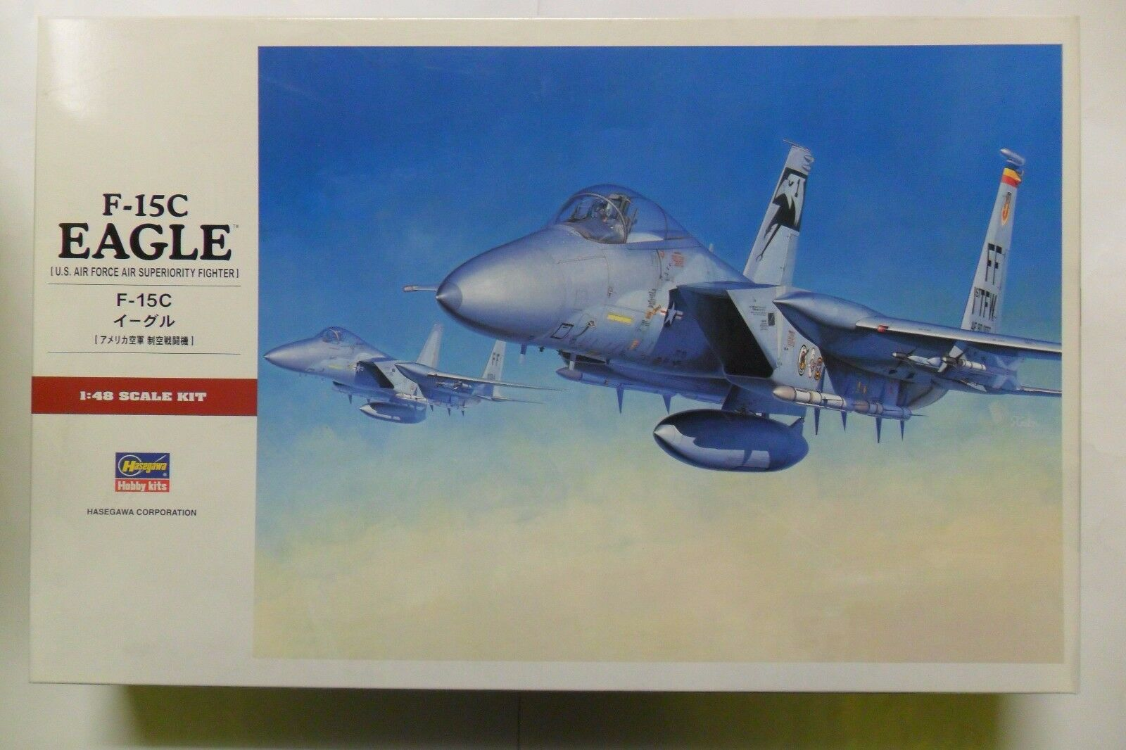 HASEGAWA 1 48 KIT AEREO 15C EAGLE US AIR FORCE AIR SUPERIORITY FIGHTER ART 07249