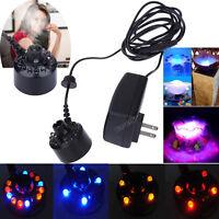 12 LED Ultrasonic Mist Maker Light Fogger Water Fountain Pond + Power Adapter