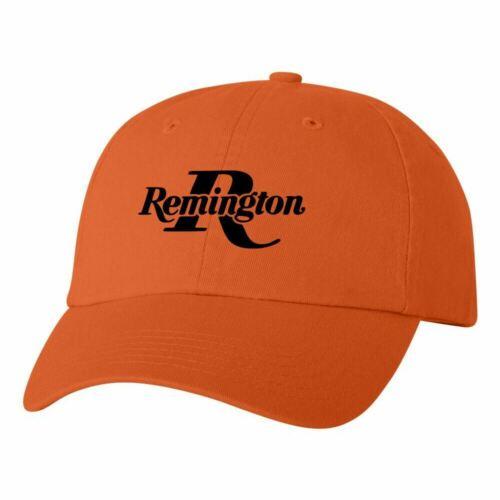 Remington Logo Dad Hat Pro Gun Brand 2nd Amendment Cap Pistol Rifle New Orange