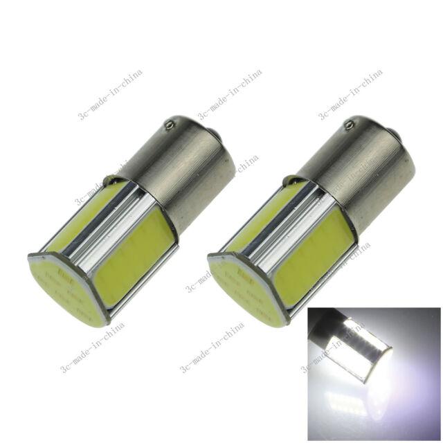 2X White 1156 G18 Ba15s 4 COB LED Turn Signal Rear Light Car Bulb Lamp 12V D083