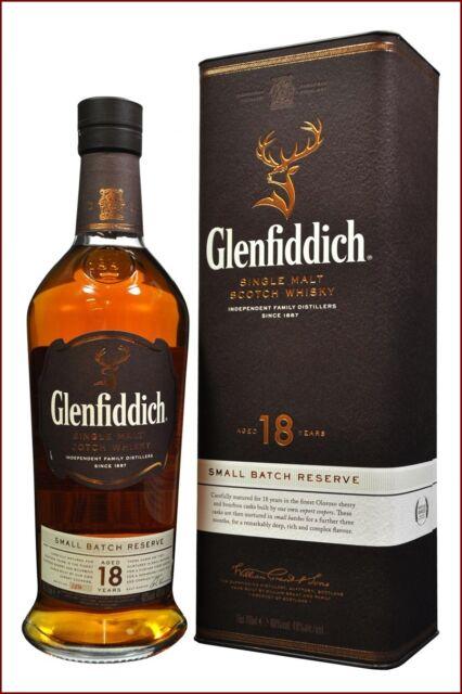 GLENFIDDICH 18 y. SINGLE MALT SCOTCH WHISKY Small Batch Reserve Oloroso Sherry