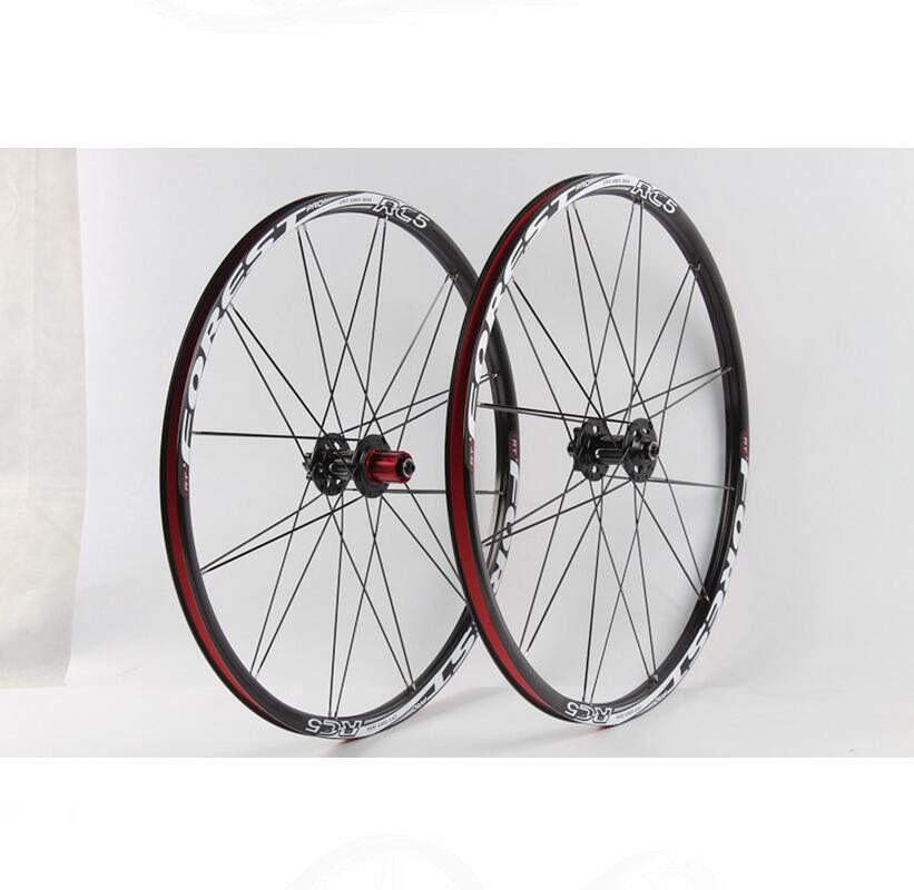 MTB Bike Wheelset Rim Carbon Hub Double-Aluminum Rims Bearings Wheel 26  27.5