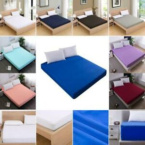 Mattress-Protector-Cover-Elastic-Bed-Pad-Fitted-Sheet-Hypoallergenic-Anti-mite